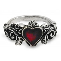 Betrothal Gothic Heart Pewter Ring Jewelry Gem Shop  Sterling Silver Jewerly | Gemstone Jewelry | Unique Jewelry