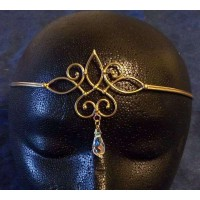 Bronze Circlet with Crystal Drop