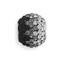 Fading Black Pave Crystal Sterling Silver Story Bead Jewelry Gem Shop  Sterling Silver Jewerly | Gemstone Jewelry | Unique Jewelry
