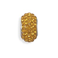 Yellow Pave Crystal Sterling Silver Story Bead Jewelry & Gem Shop  Sterling Silver Jewerly | Gemstone Jewelry | Unique Jewelry