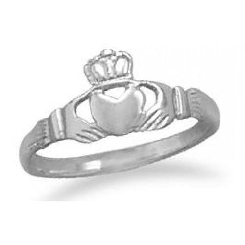 Claddagh Small Sterling Silver Ring at Jewelry Gem Shop,  Sterling Silver Jewerly | Gemstone Jewelry | Unique Jewelry