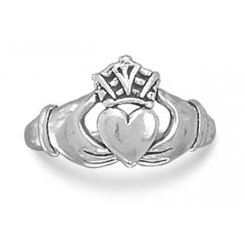Claddagh Oxidized Sterling Silver Ring at Jewelry Gem Shop,  Sterling Silver Jewerly | Gemstone Jewelry | Unique Jewelry