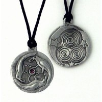 Triple Spirals Raven Pewter Necklace Jewelry Gem Shop  Sterling Silver Jewerly | Gemstone Jewelry | Unique Jewelry