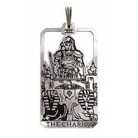 The Chariot Small Tarot Pendant Jewelry Gem Shop  Sterling Silver Jewerly | Gemstone Jewelry | Unique Jewelry