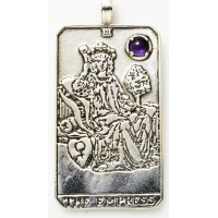 Empress Large Gemstone Tarot Pendant Jewelry Gem Shop  Sterling Silver Jewerly | Gemstone Jewelry | Unique Jewelry