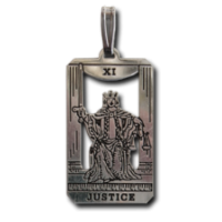 Justice Small Tarot Pendant Jewelry Gem Shop  Sterling Silver Jewerly | Gemstone Jewelry | Unique Jewelry
