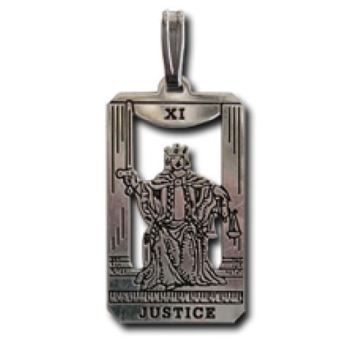 Justice Small Tarot Pendant at Jewelry Gem Shop,  Sterling Silver Jewerly   Gemstone Jewelry   Unique Jewelry