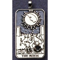 The Moon Large Gemstone Tarot Pendant