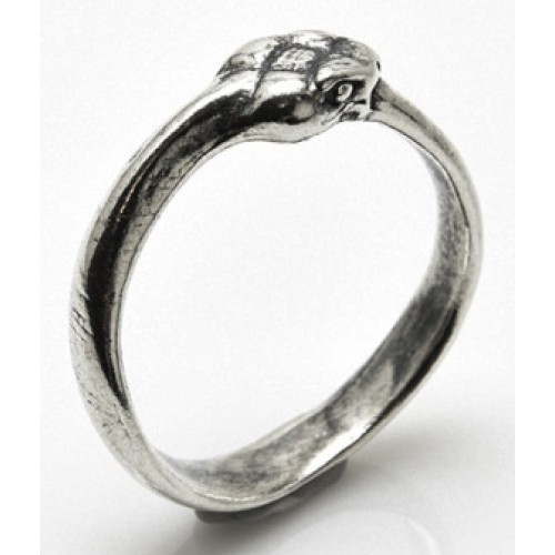 Ouroboros Snake Sterling Silver Ring