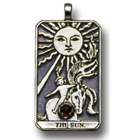 The Sun Large Gemstone Tarot Pendant Jewelry Gem Shop  Sterling Silver Jewerly | Gemstone Jewelry | Unique Jewelry