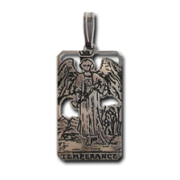 Temperance Small Tarot Pendant Jewelry Gem Shop  Sterling Silver Jewerly | Gemstone Jewelry | Unique Jewelry