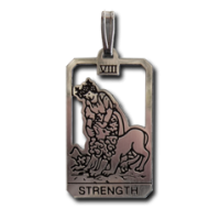 Strength Small Tarot Pendant