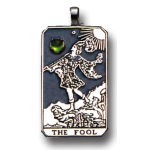 The Fool Large Gemstone Tarot Pendant at Jewelry Gem Shop,  Sterling Silver Jewerly | Gemstone Jewelry | Unique Jewelry