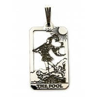 The Fool Small Tarot Pendant Jewelry Gem Shop  Sterling Silver Jewerly | Gemstone Jewelry | Unique Jewelry