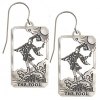 The Fool Small Tarot Card Earrings | Sterling Silver Tarot Jewelry Jewelry Gem Shop  Sterling Silver Jewerly | Gemstone Jewelry | Unique Jewelry