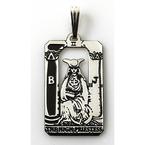 The High Priestess Small Tarot Pendant at Jewelry Gem Shop,  Sterling Silver Jewerly | Gemstone Jewelry | Unique Jewelry