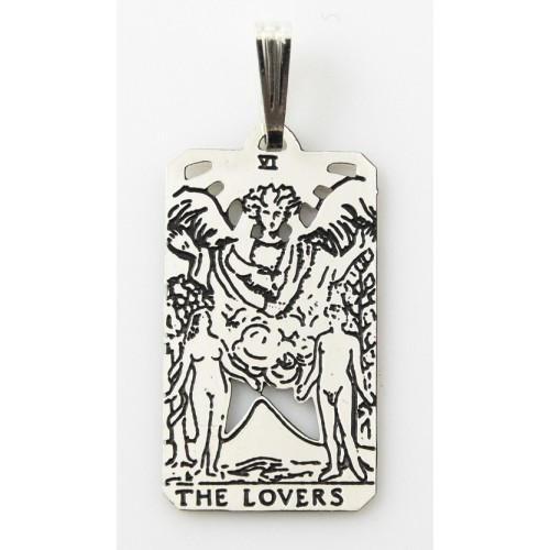 The Lovers Small Tarot Pendant