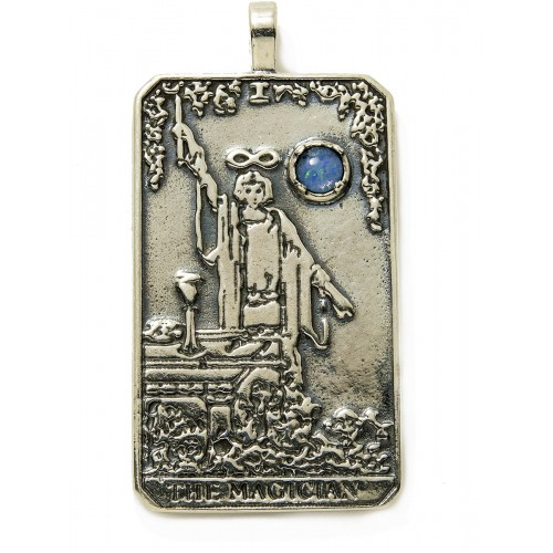 Magician Large Gemstone Tarot Pendant at Jewelry Gem Shop,  Sterling Silver Jewerly | Gemstone Jewelry | Unique Jewelry
