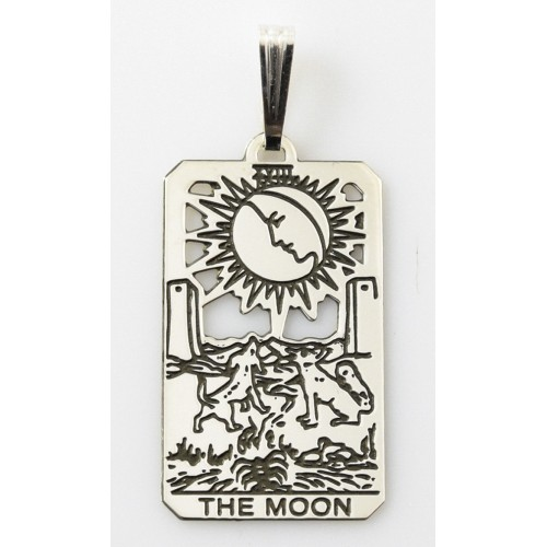 The Moon Small Tarot Pendant
