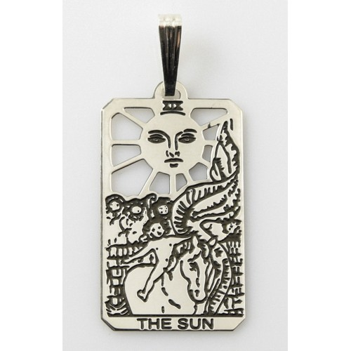 The Sun Small Tarot Pendant at Jewelry Gem Shop,  Sterling Silver Jewerly | Gemstone Jewelry | Unique Jewelry