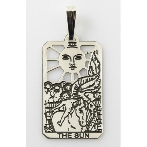 The Sun Small Tarot Pendant