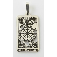Wheel of Fortune Small Tarot Pendant Jewelry Gem Shop  Sterling Silver Jewerly | Gemstone Jewelry | Unique Jewelry