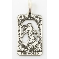The World Small Tarot Pendant