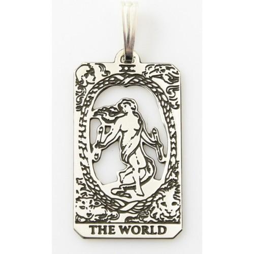 The World Small Tarot Pendant