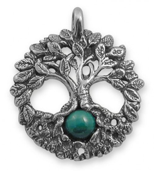 Celtic Tree of Life Sterling Silver Pendant with Gemstone at Jewelry Gem Shop,  Sterling Silver Jewerly | Gemstone Jewelry | Unique Jewelry