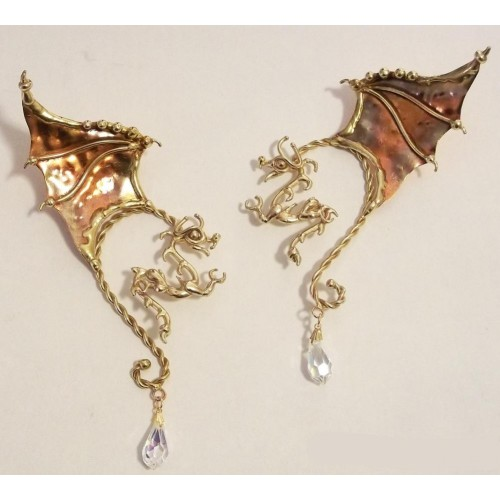 Winged Dragon Bronze Ear Wrap at Jewelry Gem Shop,  Sterling Silver Jewerly | Gemstone Jewelry | Unique Jewelry