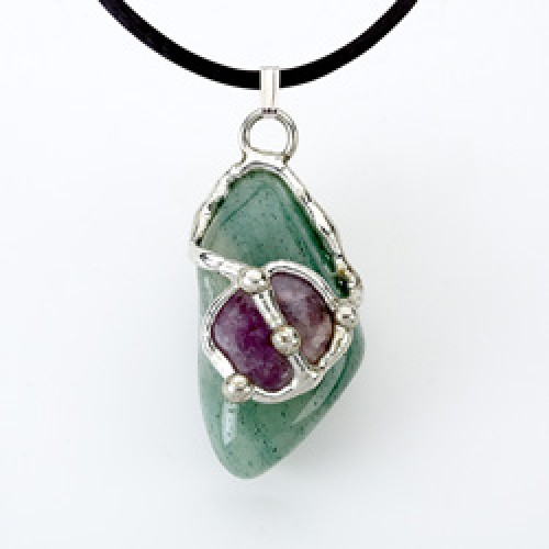 Air Gemdrop Silver Crystal Pendant at Jewelry Gem Shop,  Sterling Silver Jewerly | Gemstone Jewelry | Unique Jewelry