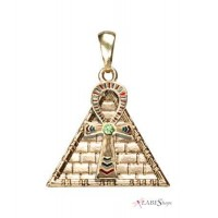 Ankh Pyramid Egyptian Necklace Jewelry Gem Shop  Sterling Silver Jewerly | Gemstone Jewelry | Unique Jewelry
