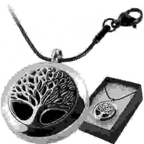Tree of Life Aromatherapy Locket Necklace at Jewelry Gem Shop,  Sterling Silver Jewerly   Gemstone Jewelry   Unique Jewelry