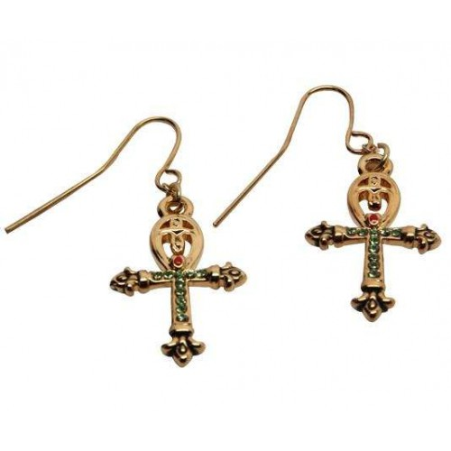 Ankh Egyptian Cross Earrings at Jewelry Gem Shop,  Sterling Silver Jewerly | Gemstone Jewelry | Unique Jewelry