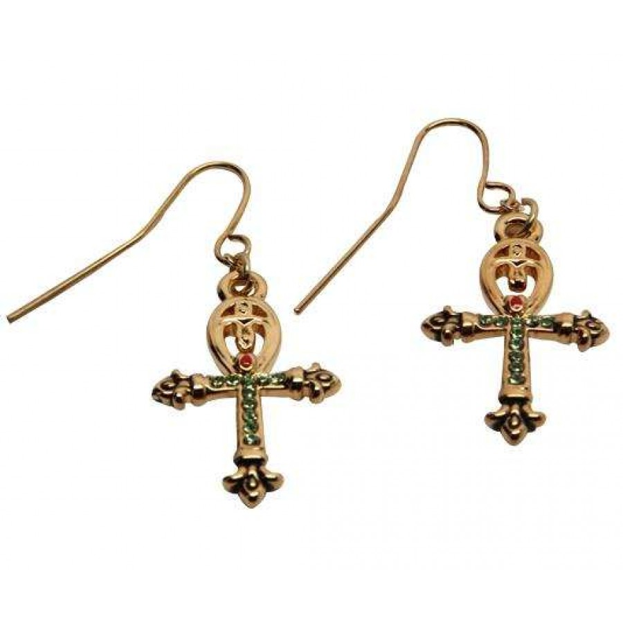 Ankh Egyptian Cross Earrings At Jewelry Gem Sterling Silver Jewerly Gemstone
