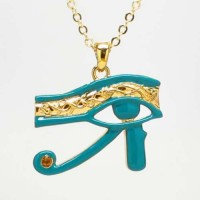 Egyptian Eye of Horus Blue Enameled Necklace Jewelry Gem Shop  Sterling Silver Jewerly | Gemstone Jewelry | Unique Jewelry