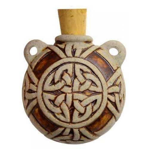 Celtic Knot Clay Oil Bottle Necklace at Jewelry Gem Shop,  Sterling Silver Jewerly | Gemstone Jewelry | Unique Jewelry