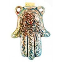 Hamsa Hand Raku Oil Bottle Necklace Jewelry Gem Shop  Sterling Silver Jewerly | Gemstone Jewelry | Unique Jewelry