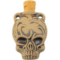 Calavera Skull Dead of the Dead Oil Bottle Necklace