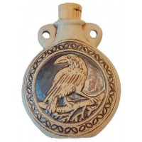 Raven Raku Oil Bottle Necklace