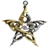 Draca Stella Dragon Pentacle Necklace