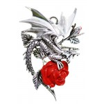 Draco Rosa Gothic Rose Necklace at Jewelry Gem Shop,  Sterling Silver Jewerly | Gemstone Jewelry | Unique Jewelry