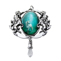 Forest Enchanted Unicorn Cameo by Anne Stokes