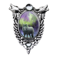 Aura Wolf Enchanted Cameo by Anne Stokes