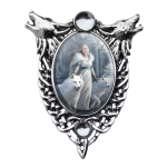 Winter Guardian Enchanted Cameo by Anne Stokes at Jewelry Gem Shop,  Sterling Silver Jewerly | Gemstone Jewelry | Unique Jewelry