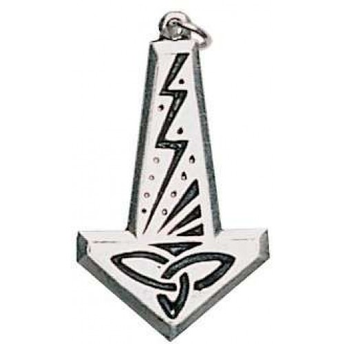 Thors Hammer with Lightning Bolt Pendant at Jewelry Gem Shop,  Sterling Silver Jewerly | Gemstone Jewelry | Unique Jewelry