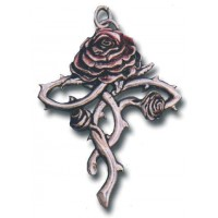 Rosycroix Gothic Rose Cross Necklace