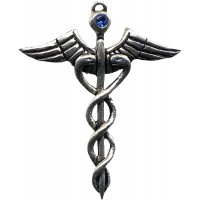 Caduceus Amulet for Healing Jewelry Gem Shop  Sterling Silver Jewerly | Gemstone Jewelry | Unique Jewelry