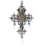 Hampton Court Rose Cross Necklace at Jewelry Gem Shop,  Sterling Silver Jewerly | Gemstone Jewelry | Unique Jewelry