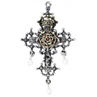 Hampton Court Rose Cross Necklace Jewelry Gem Shop  Sterling Silver Jewerly | Gemstone Jewelry | Unique Jewelry